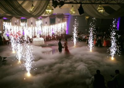 wedding indoor fireworks