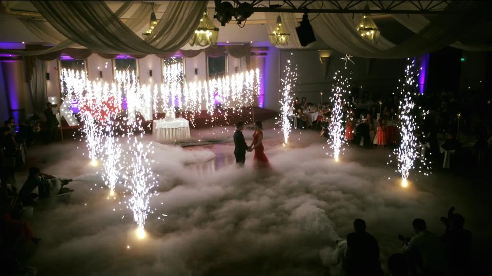 wedding indoor fireworks